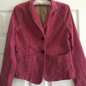 GAP Pink Corduroy Blazer/ Jacket Size 4- EUC!❤️😎